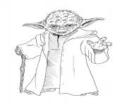 Coloriage yoda star wars