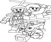 Coloriage lego star wars yoda