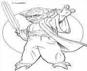 Coloriage maitre yoda star wars