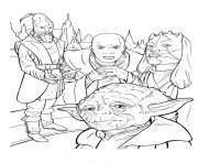 Coloriage personnages de star wars yoda