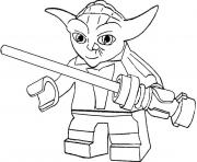 Coloriage star wars yoda dessin