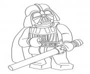 Coloriage dark vador lego star wars