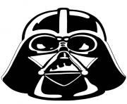 coloriage dark vador portrait star wars - Pochoir Dark Vador