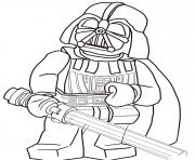Coloriage lego star wars darth vader