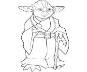 Coloriage yoda star wars dessiner