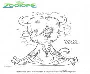 Coloriage zootopie madame bellwether dessin