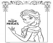 Coloriage la belle elsa reine des neiges frozen