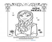 Coloriage anna la reine des neiges disney