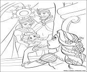 la famille de raiponce avec petit bebe dessin à colorier