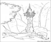 la tour de raiponce princesse dessin à colorier