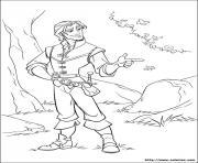 flynn rider raiponce disney dessin à colorier