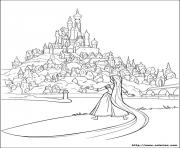 Coloriage raiponce disney face au royaume