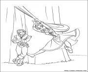 raiponce se balance princesse disney dessin à colorier