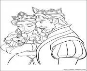 la naissance de raiponce princesse dessin à colorier
