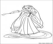 princesse raiponse est une artiste dessin à colorier