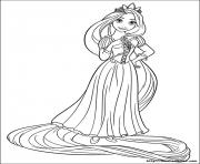 secret de raiponce princesse disney dessin à colorier