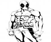 Coloriage deadpool la force de marvel
