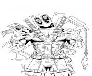 deadpool 8 dessin à colorier