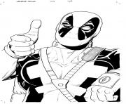 Coloriage deadpool 21