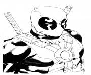 Coloriage deadpool hd colorier