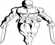 Coloriage deadpool 17