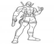 Coloriage deadpool dessin anime