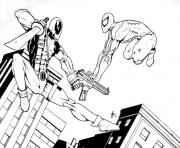 Coloriage deadpool vs superman heroes