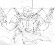 Coloriage deadpool 19