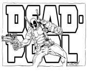 Coloriage deadpool logo movie 2016