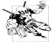 Coloriage deadpool 7