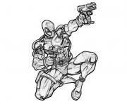 Coloriage deadpool marvel shoot