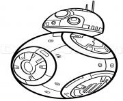 bb8 de starwars dessin à colorier