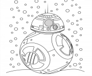 Coloriage bb8 neige noel star wars