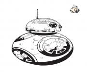 Coloriage bb8 colorier starwars