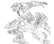 Coloriage Halo 3 Odst