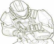 Halo Spartan 839x1024 dessin à colorier