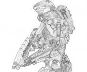Halo 3 To Print dessin à colorier