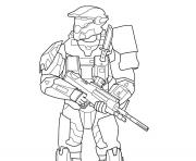 Coloriage halo 5