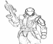 Coloriage Halo Odst 785x1024