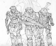 Coloriage halo 4