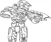 Coloriage halo precision