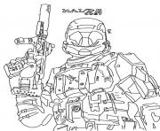 Coloriage halo reach jeu