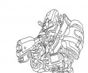 Coloriage halo reach spartan