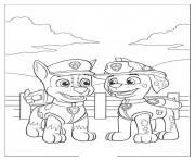 pat patrouille 8 dessin à colorier