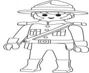 Coloriage playmobil police