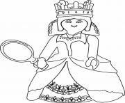 Coloriage playmobil reine