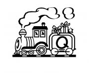 Coloriage train playmobil