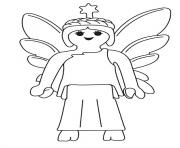 Coloriage playmobil ange
