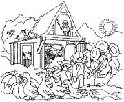 Coloriage playmobil ferme