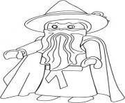 Coloriage playmobil ange dessin